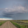Dramatic lightning storm passing through Grasslands National Park, Saskatchewan
