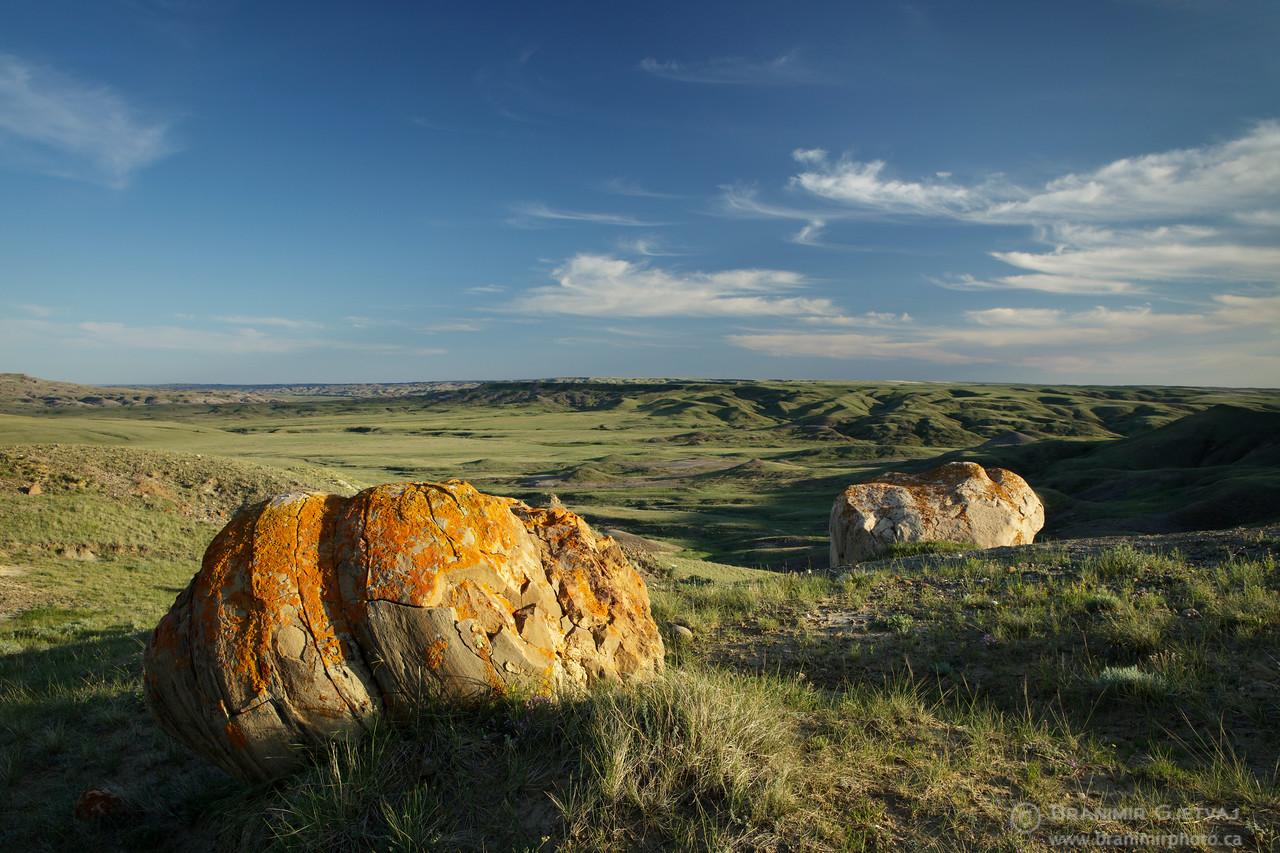 Large boulders in Grasslands National Park, Saskatchewan