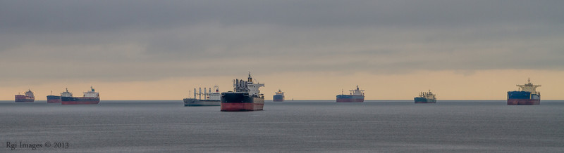 Ships in Burrard Inlet