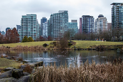 Downtown Vancouver from Devonian Harbour Park.