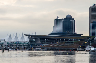 Vancouver Convention Centre and Canada Place from Coal Harbour.