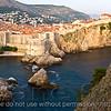 Dubrovnik old town as seen from Fort Lovrjenac.