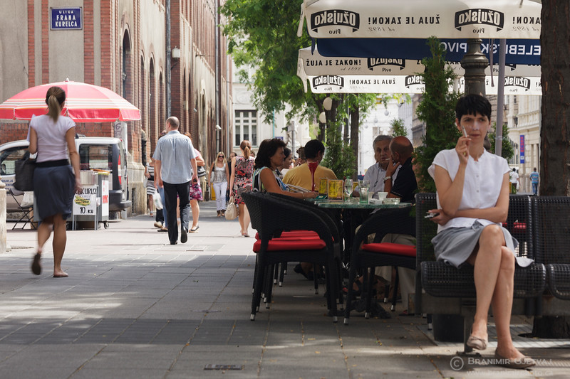 Street scene on Jurišićeva Ulica. Zagreb, Croatia