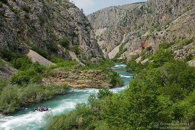 Rafting on river Zrmanja, Croatia