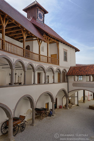 Interior courtyard at Veliki Tabor castle, Croatia