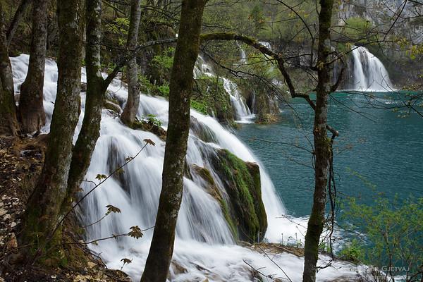 Milanovački Slap waterfall. Plitvice Lakes National Park, Croatia