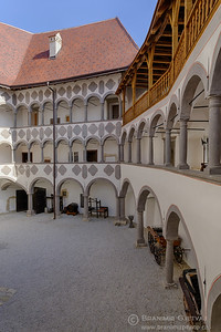Interior courtyard at Veliki Tabor castle, Croatia