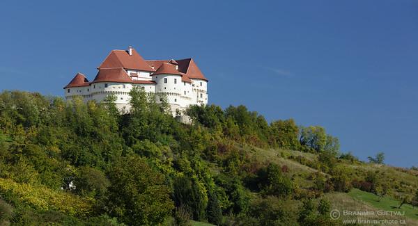 Panoramic view of Veliki Tabor castle in Hrvatsko Zagorje, Croatia