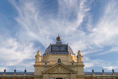 Art Pavilion building roof. Zagreb Croatia