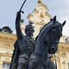 Satatue of Count Josip Jelačić in Zagreb, Croatia