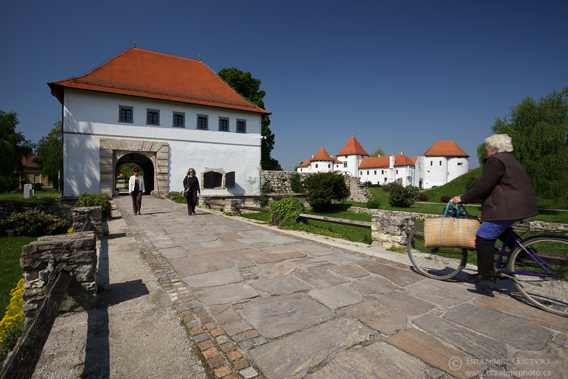 """View of """"Strazarnica"""" and the old town of Varazdin, Croatia"""