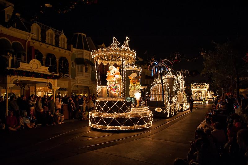 Walt Disney World 1/ 60s, at f/2.8 || E.Comp:0 || 24mm || WB: AUTO 0. || ISO: 1600 || Tone:  || Sharp:  || Camera: NIKON D700on: 2010:01:01 22:24:55