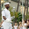 Navy Band Leader Passes During the Salute to Youth Parade in Waikiki.