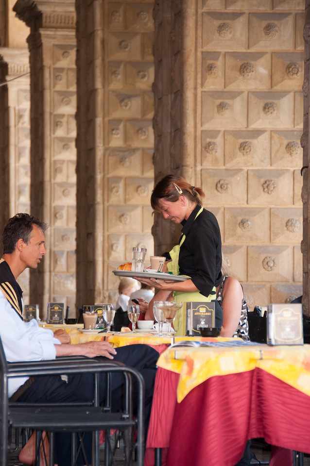 A Cafe in the Colonnades - Bologna
