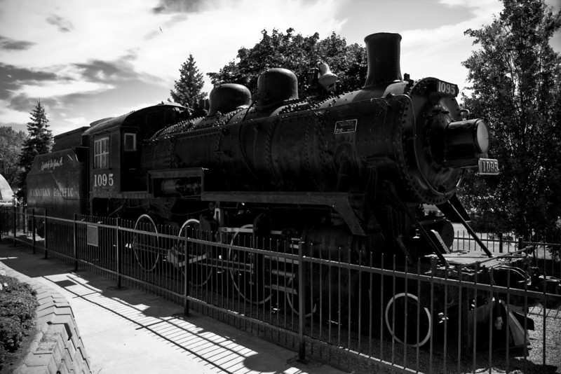 Engine 1095: 'The Spirit of John A.'<br /> <br /> Fun Facts: Engine 1095, known as The Spirit of Sir John A. has been a favourite photo back-drop for tourists visiting Kingston's Confederation Park for more than 40 years. It is a reminder that the Tourist Offices' was the K&P Railway station for more than 75 years — and that Kingston was home for 114 years to the Canadian Locomotive Company. That company built more than 3000 steam, electric and diesel engines. The Spirit of Sir John A. was one of 25 such models built for the Canadian Pacific.