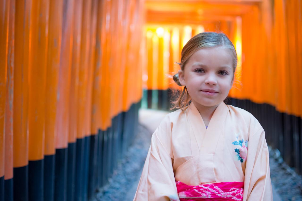 Kennedy at Fushini-inari Shrine