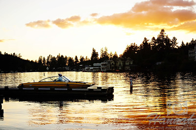 Lake Oswego in Oregon at Sunset