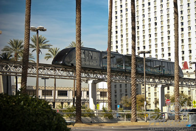A moving tram found in the Las Vegas Strip in Las Vegas, Nevada.  © Copyright Hannah Pastrana Prieto
