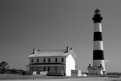 Bodie Island Lighthouse in Black & White