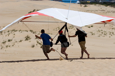 Hang Gliders at Jockey's Ridge in the Outer Banks