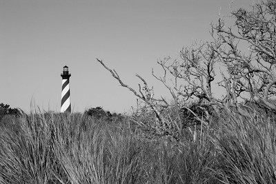 Cape Hatteras Lighthouse in North Carolina in Black & White