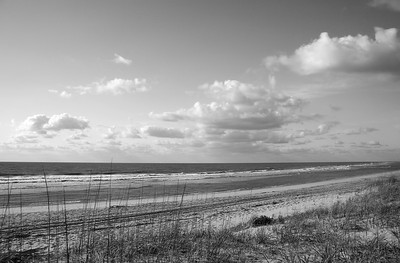 Outer Banks Beach in Black & White - Other tones are available if needed.