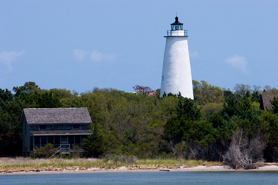 Ocracoke Lighthouse in the Outer Banks of North Carolina