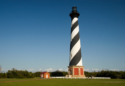 Cape Hatteras Lighthouse - New location, after the move.  Room for text.