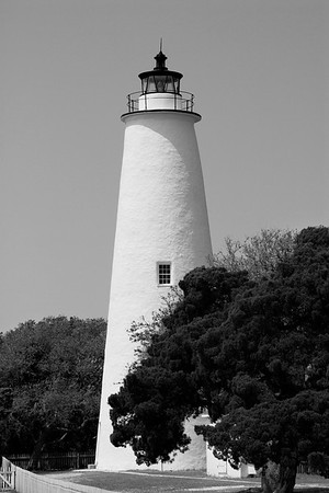 Black and White version.  Ocracoke Lighthouse in NC