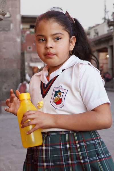 Young student from one of the private church schools in San Miguel de Allende.