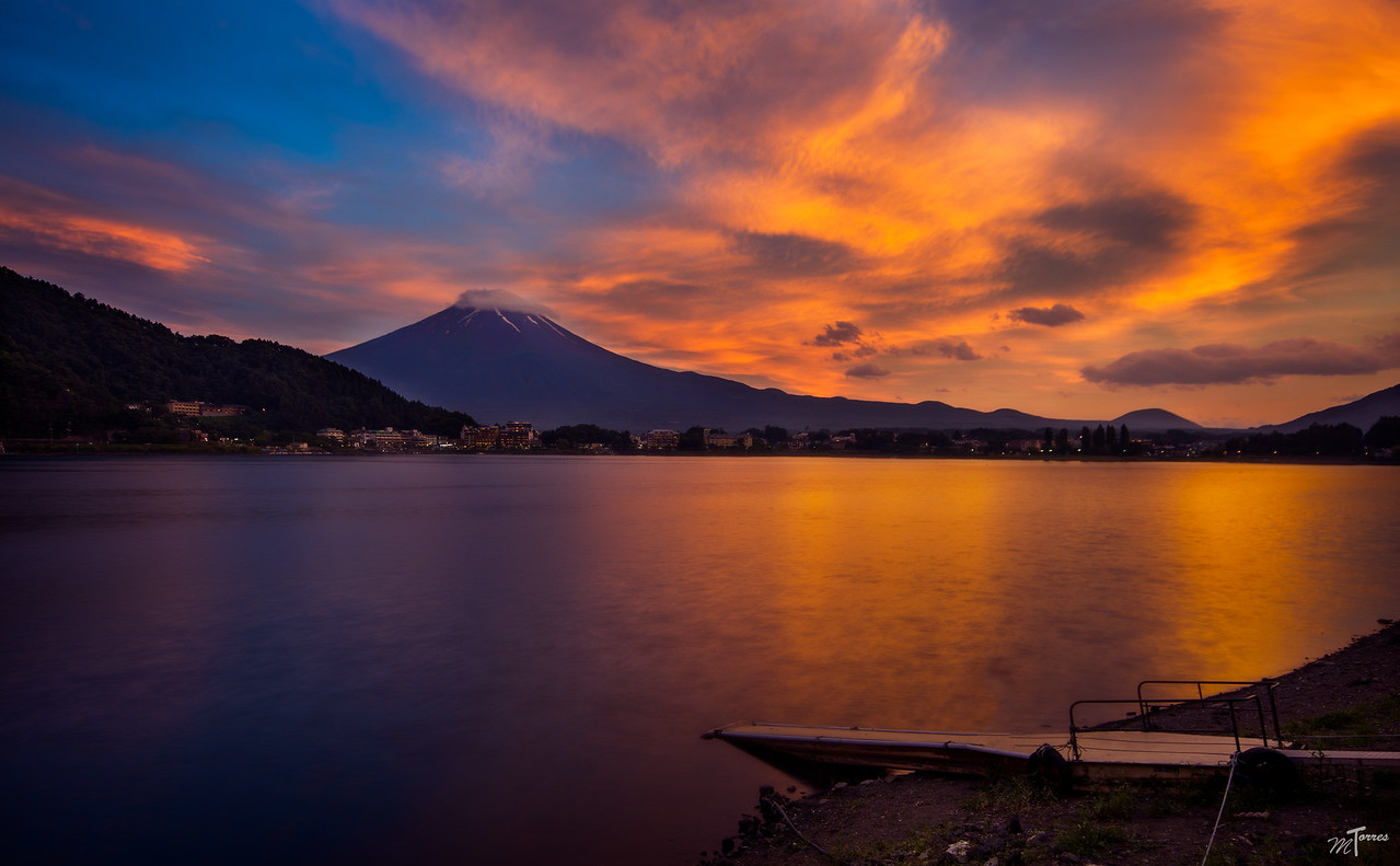 Explosion of Colors over Fuji