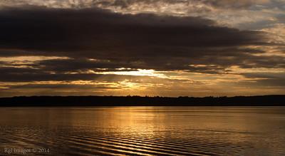 Sun rise, Hood canal.
