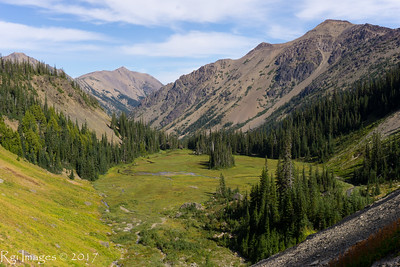 Arrowhead meadow from trail to upper Royal Basin