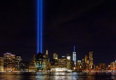 Tribute In Light. September 11, 2016.