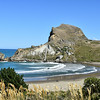 And there she is, Castlepoint. Named by Captain Cook because from the seaward side it resembled a castle, though wind eroded today I suspect.