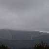 From Brooklyn Hill on a grey and cold winter's day, looking towards four of the 60+ wind turbines in the Makara wind farm.
