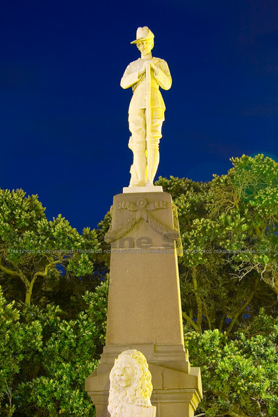 I love near dusk / dawn pictures.  This is a pic of a war memorial in Napier that I took just after sundown.