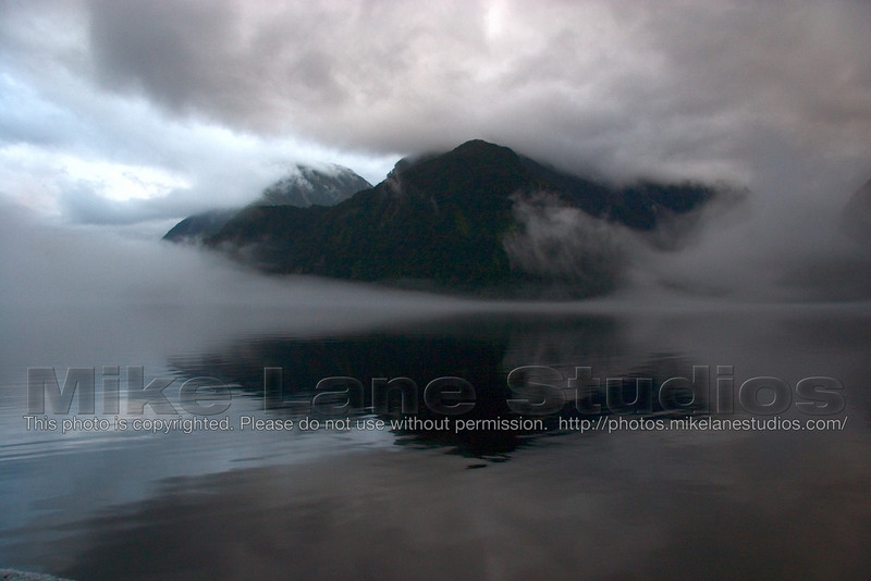 The fjords mingle with the fog to give an almost abstract view.  Amazing!