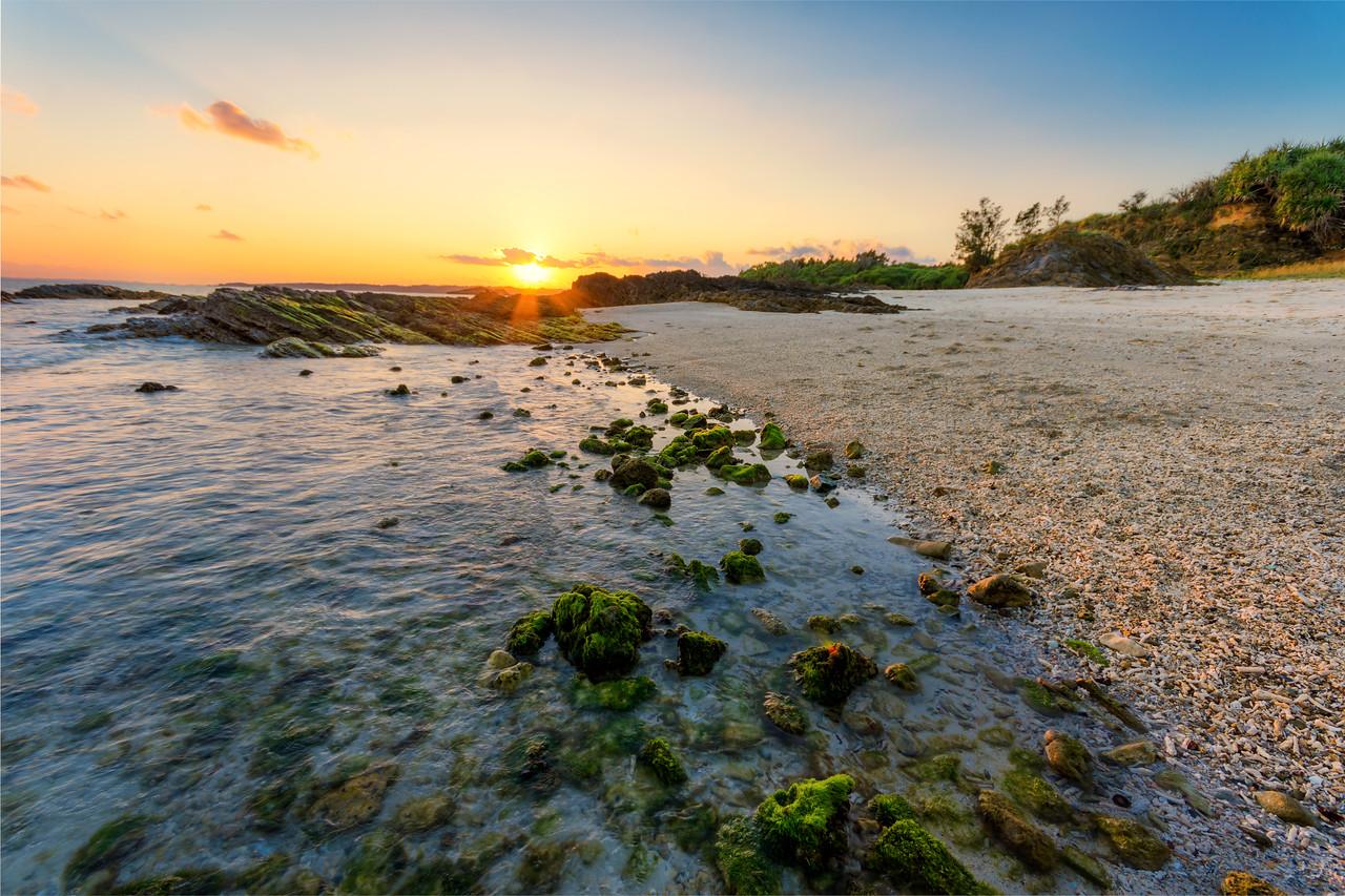 Rocks live along Sea Glass Beach