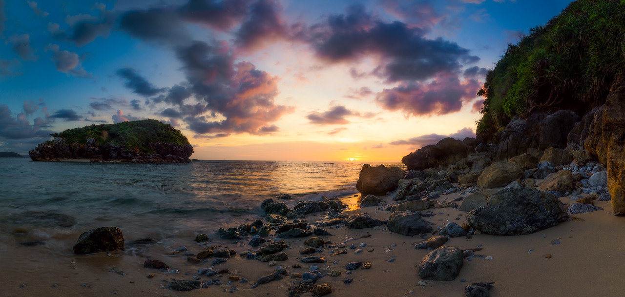 Okuma's Amazing Sunset Pano