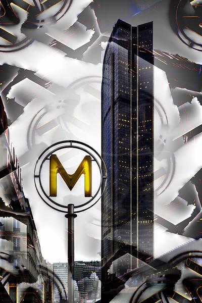 le Métro à coté de la Tour Montparnasse