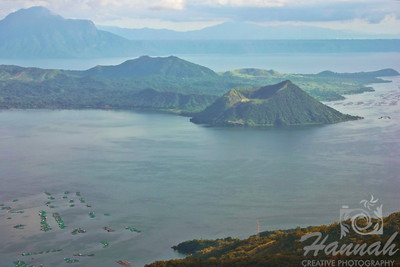 View of Taal Lake and Taal Volcano in Tagaytay City, Philippines.  © Copyright Hannah Pastrana Prieto