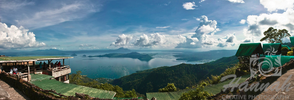 Panoramic view of Taal Lake and Taal Volcano in Tagaytay City, Philippines.  © Copyright Hannah Pastrana Prieto