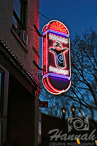 Voodoo Doughnut... a famous doughnut shop located in Portland, Oregon which is known for its unusual doughnuts, the eclectic decor of the shops and the iconic pink doughnut boxes.   Shot with the Lensbaby composer with sweet 35 optic  © Copyright Hannah Pastrana Prieto