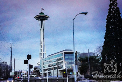 Seattle, Washington with the view of The Space Needle