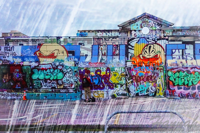 Graffiti Wall found at an abandoned building in Seattle, Washington   © Copyright Hannah Pastrana Prieto