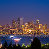 An image of the Seattle skyline and gasworks park 4 July 2005.  This pic was taken just before the fireworks show started.