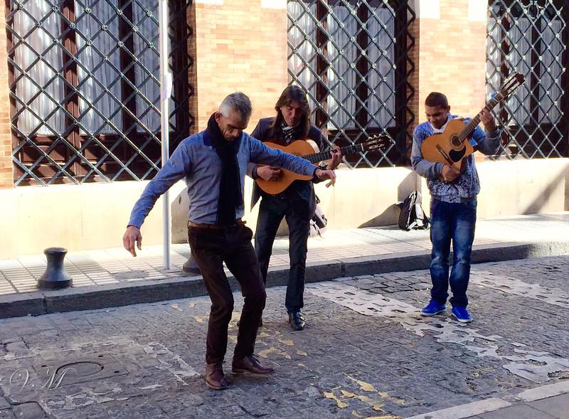 More street performers.
