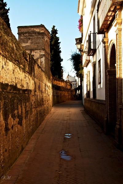 The narrow streets of Santa Cruz.