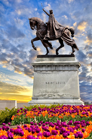 "4/17/2014 ""Apotheosis of St. Louis"" statue of King Louis IX of France, Art Museum, Forest Park."